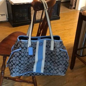 Coach Signature Purse Tote Handbag- Large